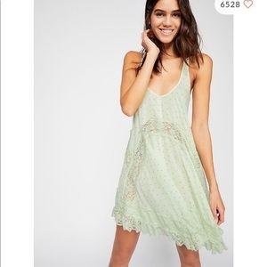 Free people She Swings lace slip dress size S